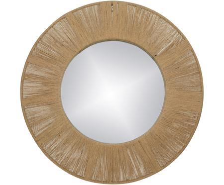 Specchio rotondo da parete con cornice in fibre naturali Finesse