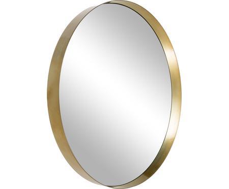 Specchio da parete rotondo con cornice dorata Metal