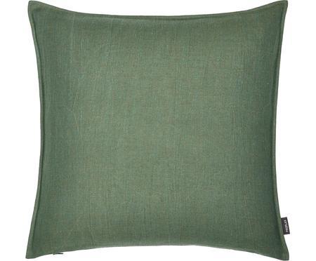Federa arredo in lino lavato verde Sven