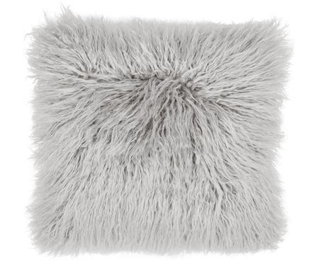 Federa arredo in ecopelliccia grigio chiaro Morten