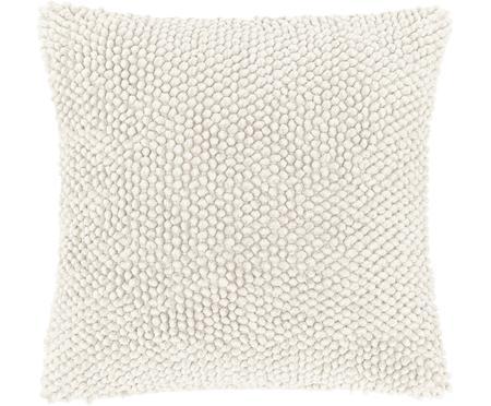 Federa arredo in cotone bianco crema Indi