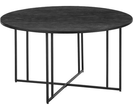 Tavolo rotondo con piano in legno massiccio Luca