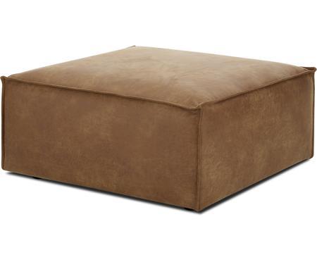Poggiapiedi da divano in pelle marrone Lennon