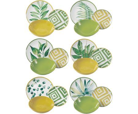 Set di piatti con motivo tropicale Botanique , 6 persone (18 pz.)