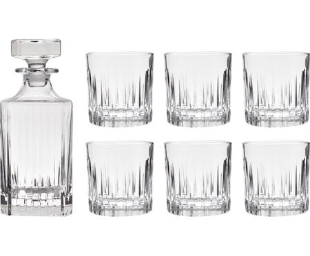 Set whisky in cristallo Timeless 7 pz