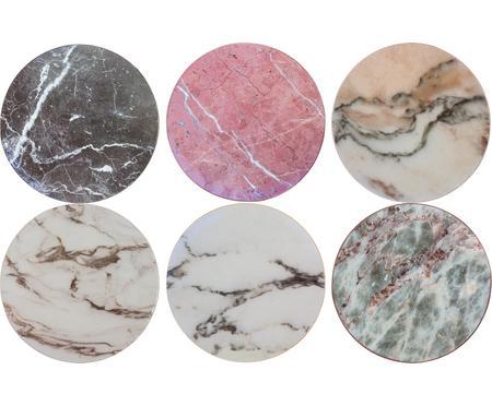 Set 6 sottobicchieri in sughero effetto marmo Cork