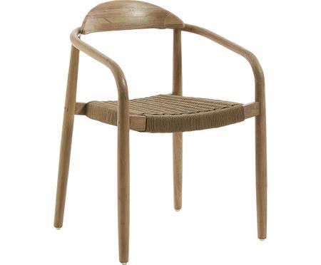 Sedia in legno con braccioli Nina