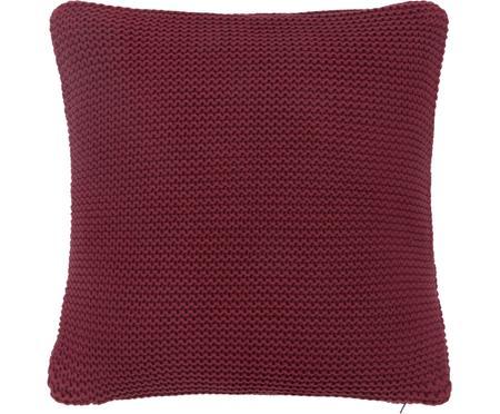 Federa arredo fatta a maglia rosso scuro Adalyn