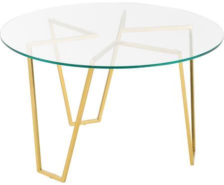 Tavolino da salotto rotondo con piano in vetro Scarlett