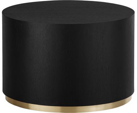 Tavolino da salotto rotondo color nero Clarice