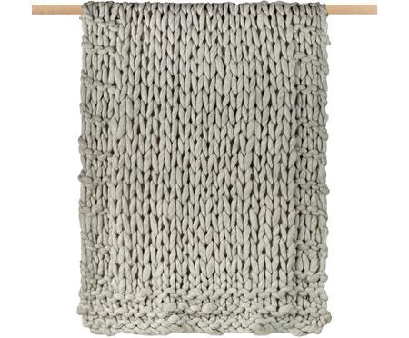 Plaid in lana lavorato a maglia Fern