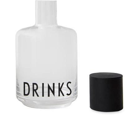 Bottiglia in vetro con scritta Drinks, 500 ml