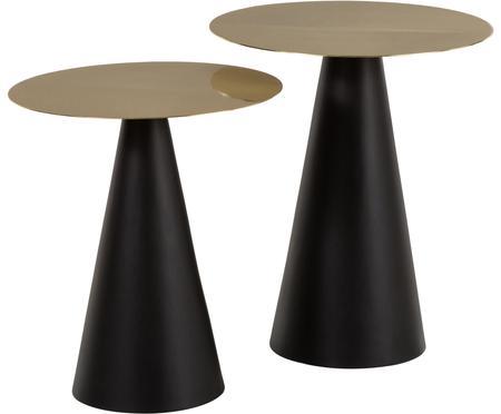 Set 2 tavolini in metallo Zelda