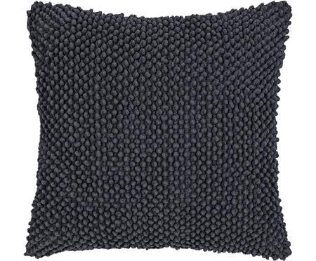 Federa arredo in cotone grigio scuro Indi