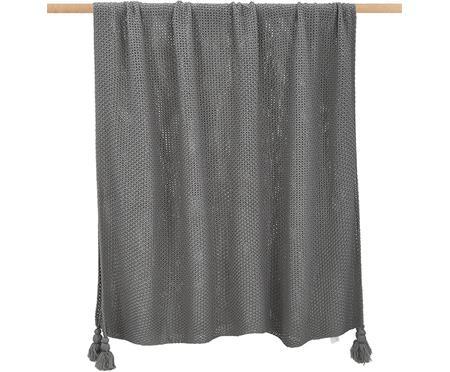Plaid a maglia con frange Lisette