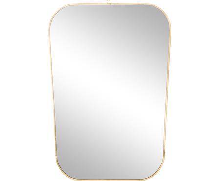 Specchio da parete con cornice dorata Rounded