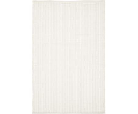 Tappeto in lana tessuto a mano color crema Amaro