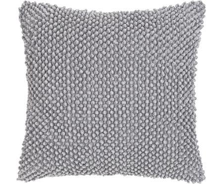 Federa arredo in cotone grigio chiaro Indi