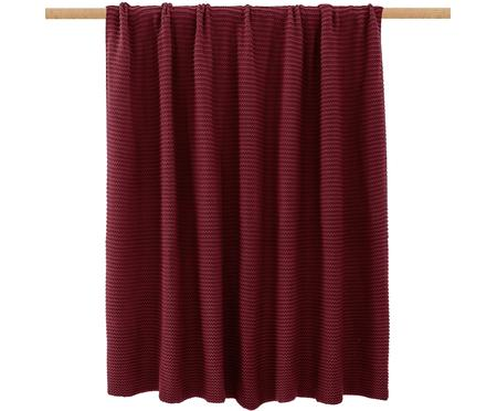 Coperta a maglia rosso scuro Adalyn
