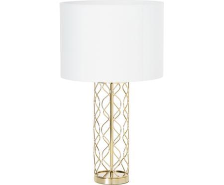Lampada da tavolo bianco-dorata Adelaide