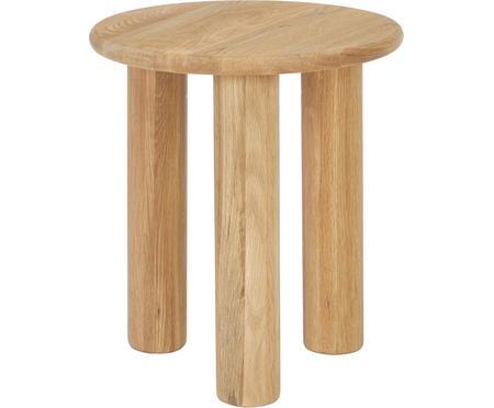Tavolino rotondo in legno di quercia Didi