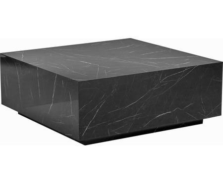 Tavolino da salotto nero effetto marmo Lesley