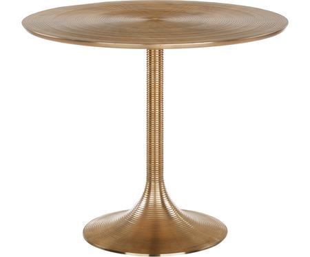 Tavolo rotondo in alluminio dorato Hypnotising