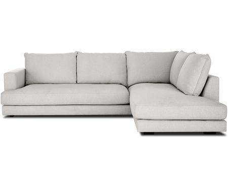 Divano angolare in tessuto grigio beige Tribeca