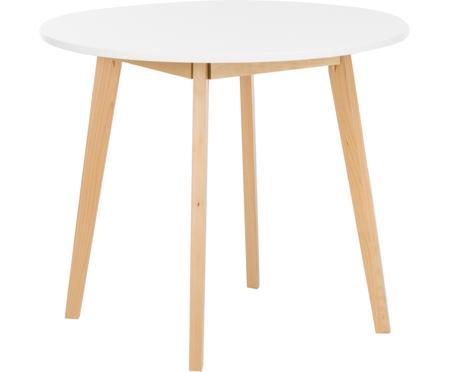 Tavolo rotondo in legno di betulla Raven