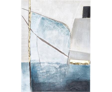Quadro dipinto a mano Golden Blue II