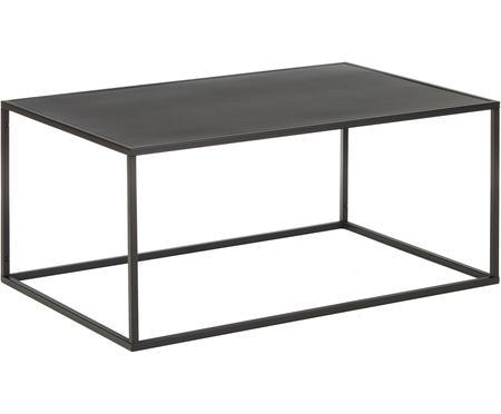 Tavolino da salotto in metallo nero Newton