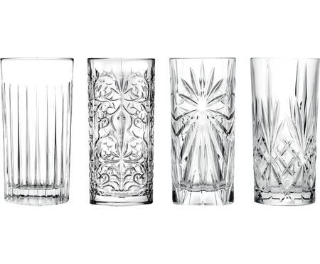 Set 4 bicchieri long drink in cristallo Bichiera