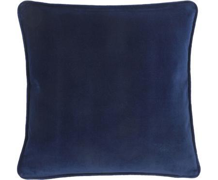 Federa arredo in velluto blu navy Dana