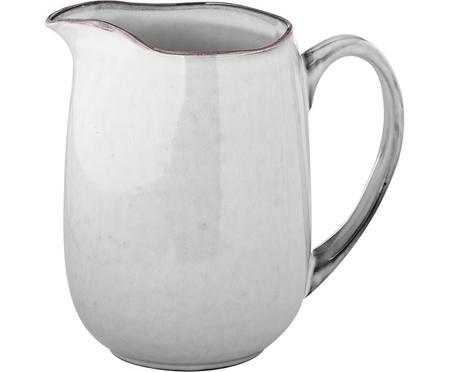 Brocca da latte in terracotta fatta a mano Nordic Sand, 1 L