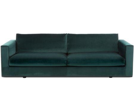Divano 3 posti in velluto verde scuro Balmira