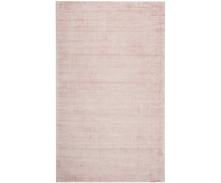 Tappeto in viscosa rosa tessuto a mano Jane