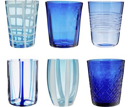 Set 6 bicchieri acqua in vetro Melting Pot Sea