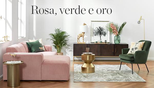 Rosa, verde e oro